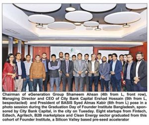 Press release of Founder Institute with the Startup passed graduates, December 2019